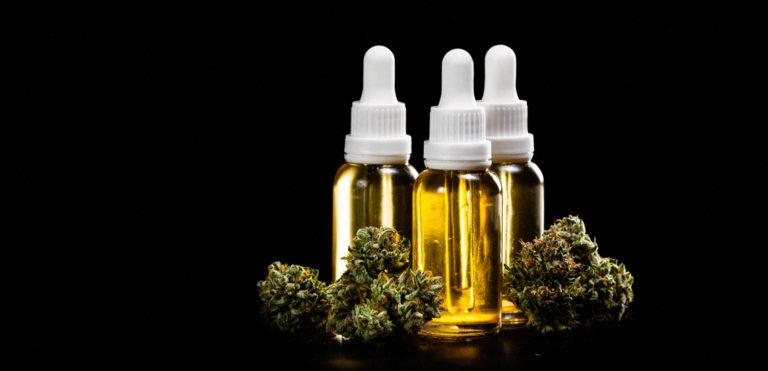 CBD oil vials